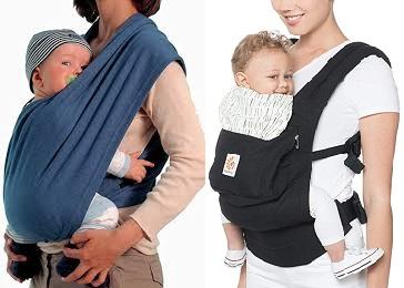 Que choisir entre l'écharpe de portage et le porte bébé ?